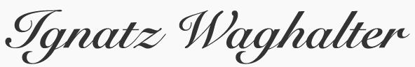 Ignatz Waghalter
